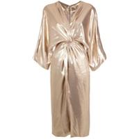 A.brand Vestido Kimono Metalizado - Metallic