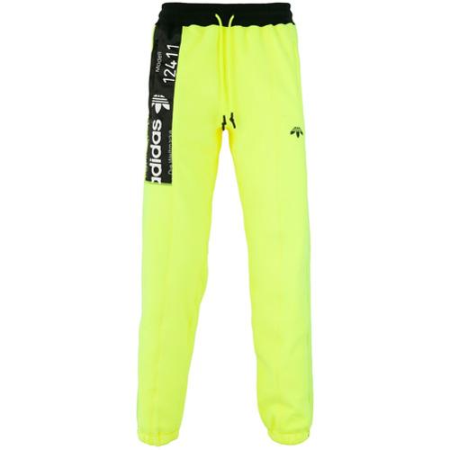 Adidas Originals By Alexander Wang Calça de moletom - Amarelo E Laranja