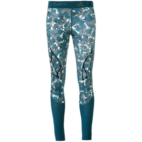 Adidas By Stella Mccartney Legging com estampa camuflada - Azul