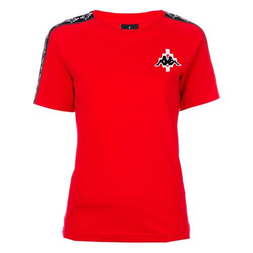 Marcelo Burlon County Of Milan Camiseta com logo 'Kappa' - Vermelho
