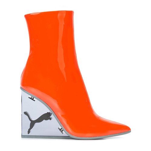 Fenty X Puma Bota de couro envernizado com plataforma 'Fenty Cat' - Vermelho