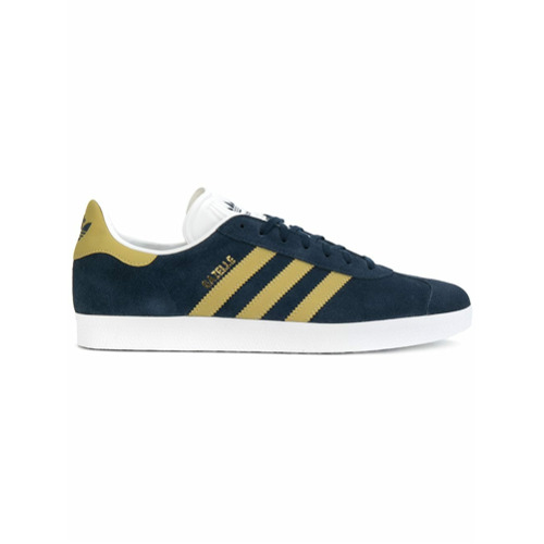 Adidas Tênis de couro e camurça 'Adidas Originals Gazelle' - Azul