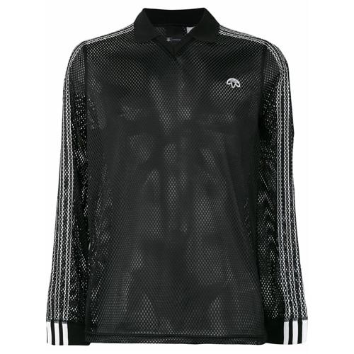 Adidas Originals By Alexander Wang Camisa polo de mesh - Preto