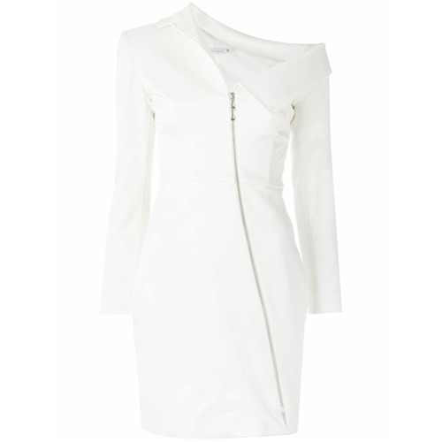 Corporeum Vestido assimétrico - Branco