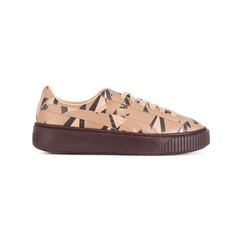 Puma Tênis de couro com plataforma 'Cheetah' - Brown