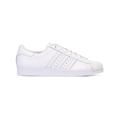 Adidas Tênis de couro modelo 'Superstar 80's Metal Toe' - Branco