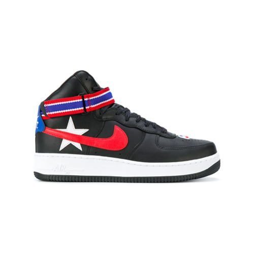 Nike Tênis de couro 'NikeLab x RT Air Force 1 High' - Preto